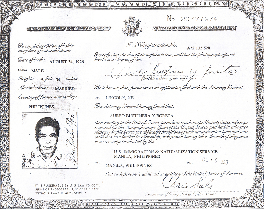 Veterans day pinay key point tatay cert of naturalization xflitez Images